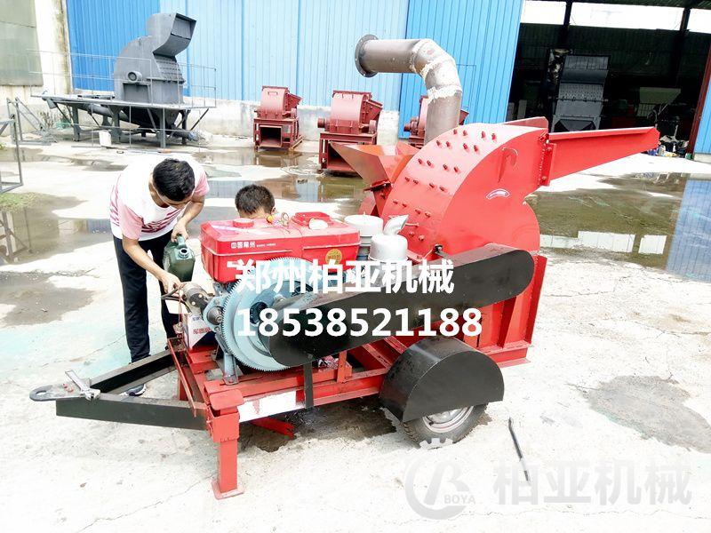 移动式木材粉碎机的结构和工作原理。